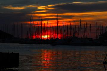 "Sonnenuntergang ""Hafen Vrsar"""