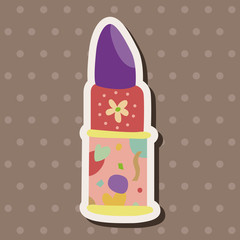 lipstick theme elements vector,eps