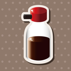 kitchenware sauce bottle theme elements vector,eps