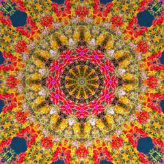 circle kaleidoscopic synthetic Art background, complex geometry