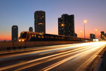 moving blur light of traffic