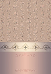 Decorative vintage background with floral patterns.