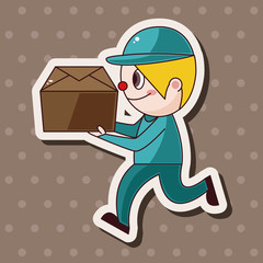 deliveryman theme elements vector,eps