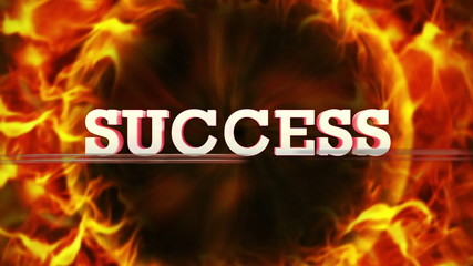 Fiery SUCCESS Text, and Fiery Ring, Loop