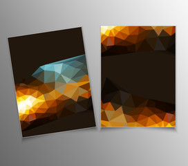vector template with an abstract pattern of triangles