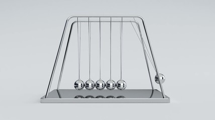 Newton's cradle with alpha channel at the end of the clip