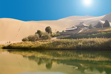 Chinese temple in desert
