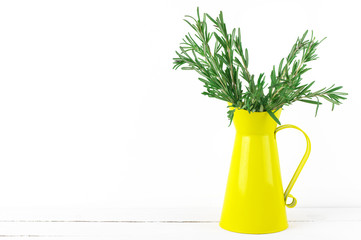Pitcher with rosemary