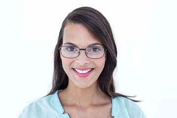 Pretty woman smiling at camera