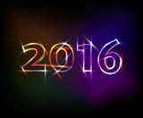 Fototapety 2016 neon lights effect