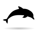 Silhouette dolphin - Illustration