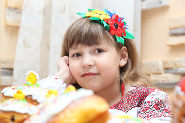 Girl in Ukrainian embroidery
