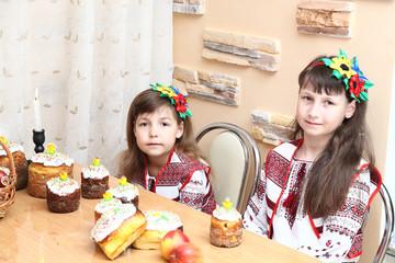 Girl in Ukrainian embroidery