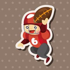 football player theme elements