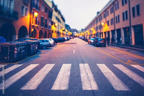 City Street in Italy - 82036149