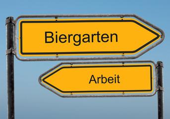 Strassenschild 39 - Biergarten