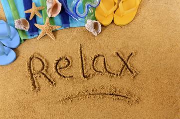 Relax beach writing