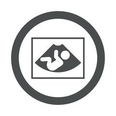 Icono redondo ecografia gris