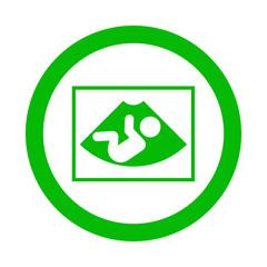 Icono redondo ecografia verde