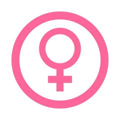 Icono redondo femenino rosa