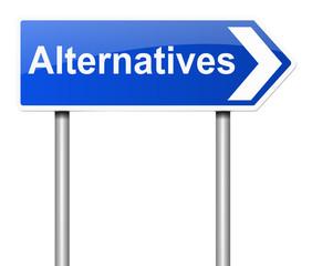 Alternatives concept.
