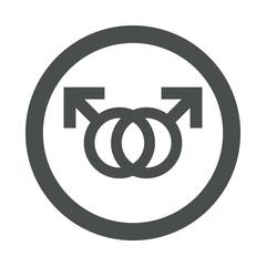 Icono redondo homosexual gris