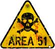 area 51 warning sign, vector illustration