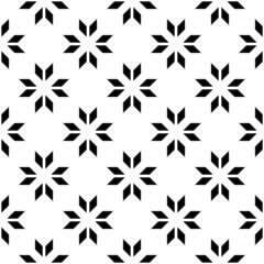 Black and white geometric seamless pattern with shevron.
