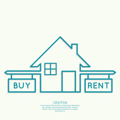 Concept of choice between buying and tenancy.
