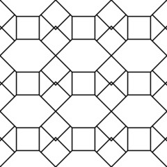 Black and white geometric seamless pattern with square triangle