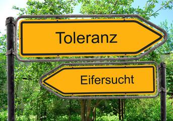 Strassenschild 40 - Toleranz