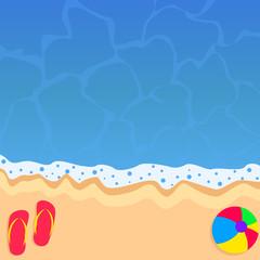 Fun summer beach background