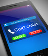 Leinwanddruck Bild - Cold caller concept.