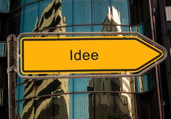 Strassenschild 42 - Idee