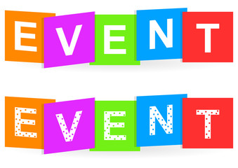 Event colorful typography banner