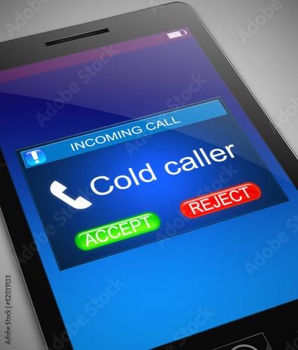 Leinwanddruck Bild Cold caller concept.