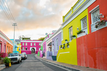 "Постер, картина, фотообои ""Colorful homes in the historic Bo-Kaap neighborhood in Cape Town"""