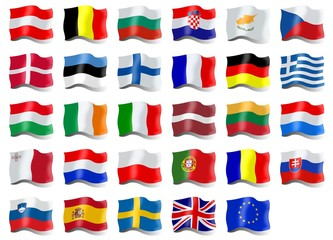 Country flags of European Union