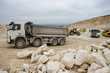 Trucks and bulldozers in quarry - 82039933