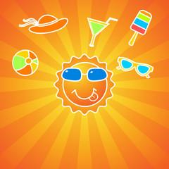 Summer fun activities background