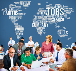 Jobs Occupation Careers Recruitment Employment Concept