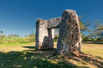 Tonga Polynesia paradise old coral dolmen in main island
