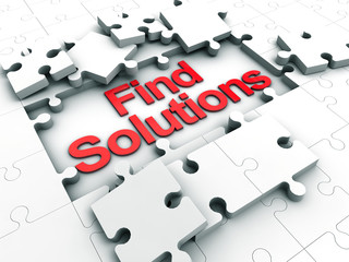 Find Solutions puzzle tiles
