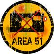 warning sign area 51, photo prohibited, vector illustration