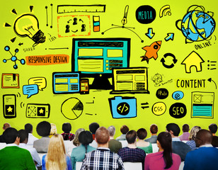 Responsive Design Responsive Quality Content Share Concept