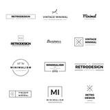 Set of modern and minimal vintage vector logos