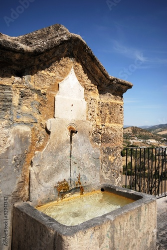 Leinwanddruck Bild Drinking fountain, Priego de Cordoba © Arena Photo UK