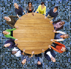 Diversity Group Business People Teamwork Support Concept