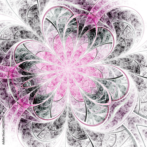 elegancki-czarny-i-rozowy-fraktal-kwiat-grafika-cyfrowa