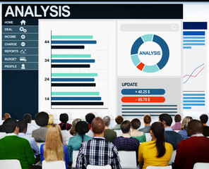 People Seminar Conference Analysis Finance Budget Report Concept